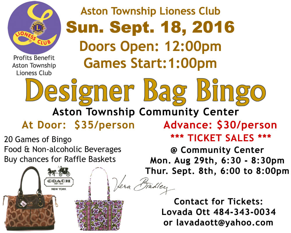 Lioness Designer Bag Bingo