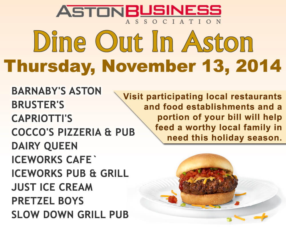 Dine Out In Aston Nov 13, 2014