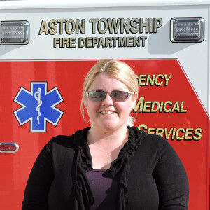 Kit Spayd is the first president of the newly formed Aston Township Fire Department. Photo by Loretta Rodgers