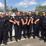Members of the Aston Township Police Department show their support for Cameron.