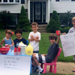 Local children operated a lemonade stand for Cameron.
