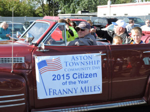 Aston Township Citizen of the Year, Fran Miles (photo by Loretta Rodgers)