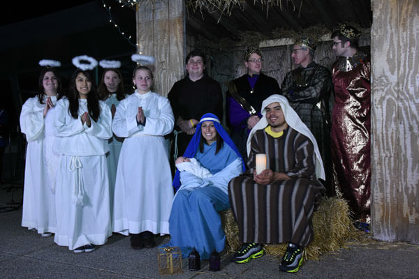 Neumann University students, faculty and staff will stage a Live Nativity on December 6.