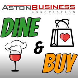 Dine and Buy in Aston April 14th