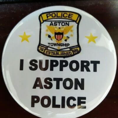 Aston Township Police Department Pin Sales