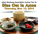 Dine Out in Aston - Nov. 13th