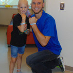 John McCarthy of the Philadelphia Union Soccer Team, visited Cameron McCarthy in the hospital and shaved his hair off in support of the seven-year-old, who is fighting Ewing Sarcoma.