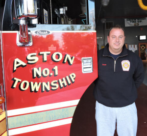 Sean Joyce, President of Aston Township Fire Department. (photo by Loretta Rodgers)