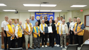 The Aston Lions Club was presented a resolution by Delaware County Council for their tireless dedication to the community.