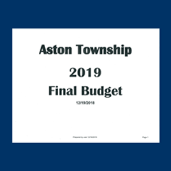 Commissioners Approve 2019 Final Budget