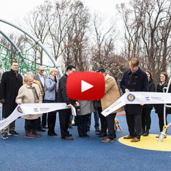 Smiles in the Playground Ribbon Cutting