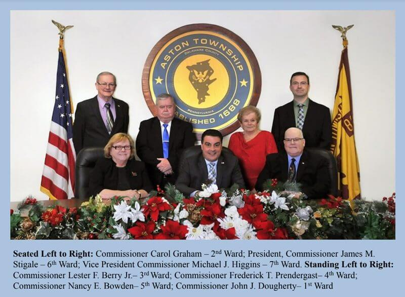 2020 Aston Township Board of Commissioners